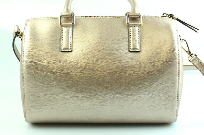 DKNY Rose Gold Boston Bag With Gold Hardware