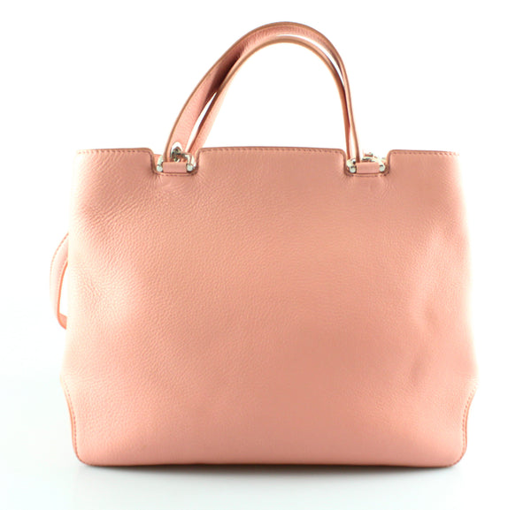 Michael Kors Pink Leather Annabelle Tote