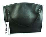 Jill Sander Hill Md Grained-leather Grommet Tote Bag In Nero