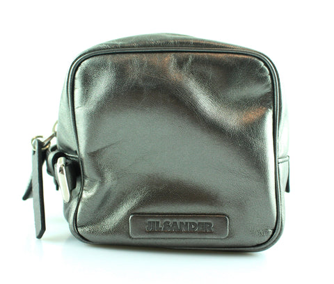 Jill Sander Silver Metallic Cosmetic Bag