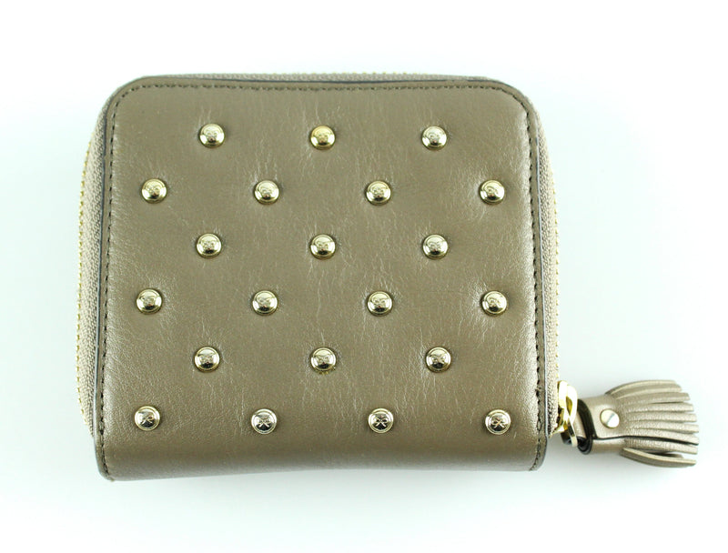 Anya Hindmarch Taupe Studded Compact Wallet