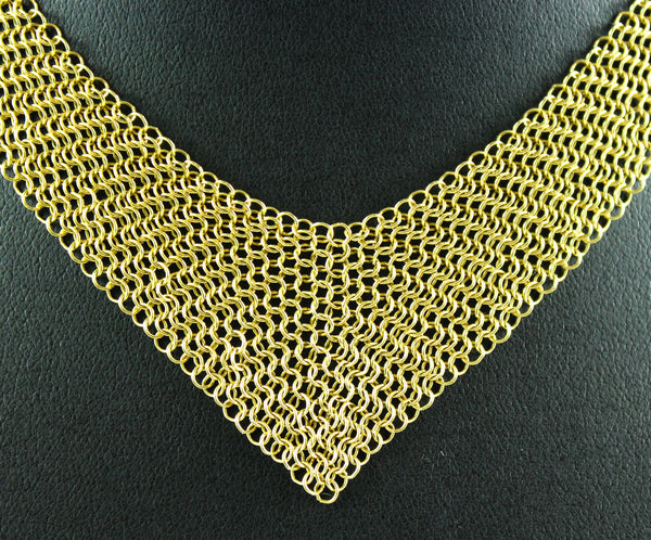 Tiffany Elsa Peretti® Mesh Bib Necklace in 18k gold, Small. RRP €10,700
