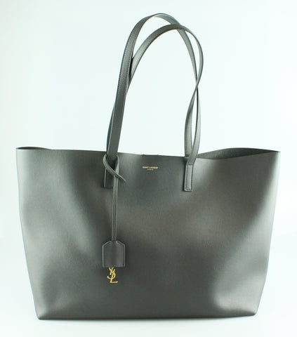 Saint Laurent Anthracite Soft Calf Shopping Tote RRP €795