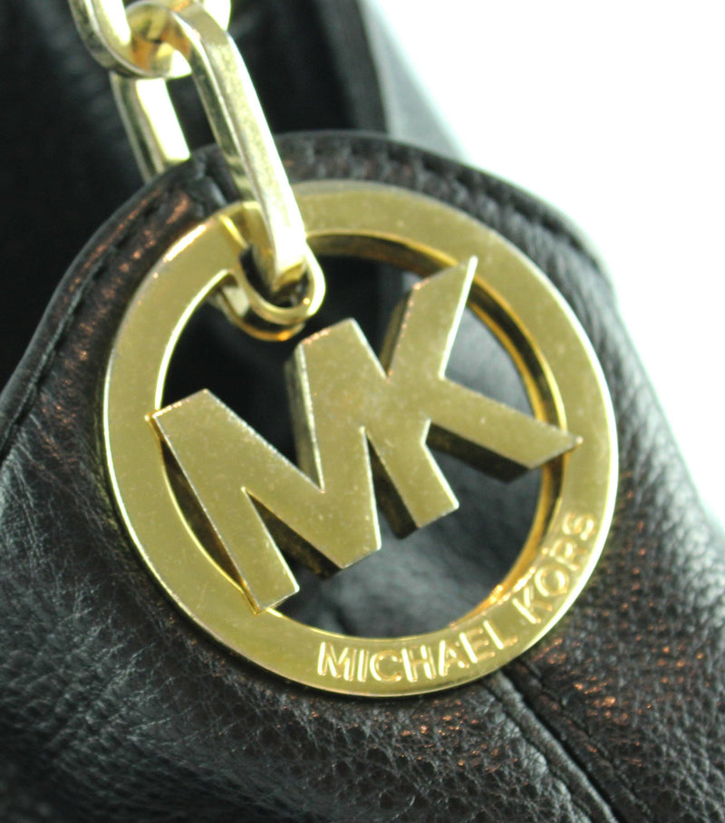 Michael Kors Black Grained Leather Fulton GH (2)