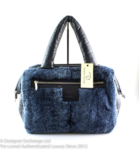 Chanel Coco Cocoon Navy Lambskin And Rabbit Fur 2009/10