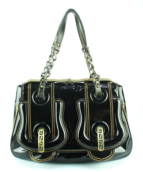 Fendi Patent B-Bag