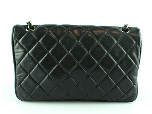 Chanel 2006 Black Coco Collection Twin Lock Lambskin Shoulder Bag