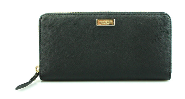 Kate Spade Black Laurel Way Neda Saffiano Wallet