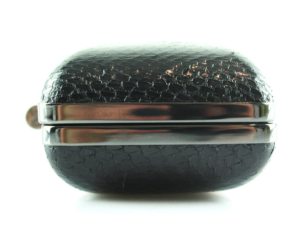 DVF Python And Lambskin Striped Box Clutch GMH