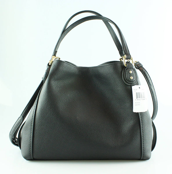 Coach Black Grained Leather Edie 28 GH RRP €350