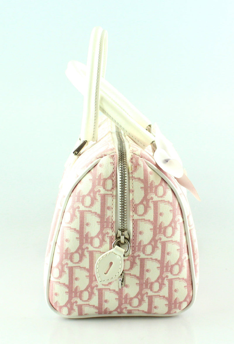 Christian Dior Pink Mono Bowling Bag Medium