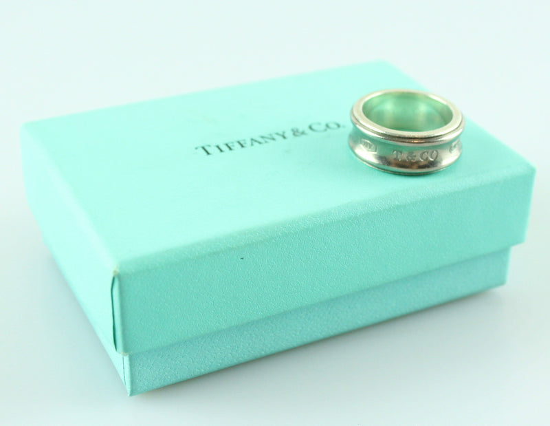 Tiffany 1837 Titanium And Sterling Silver Ring Small