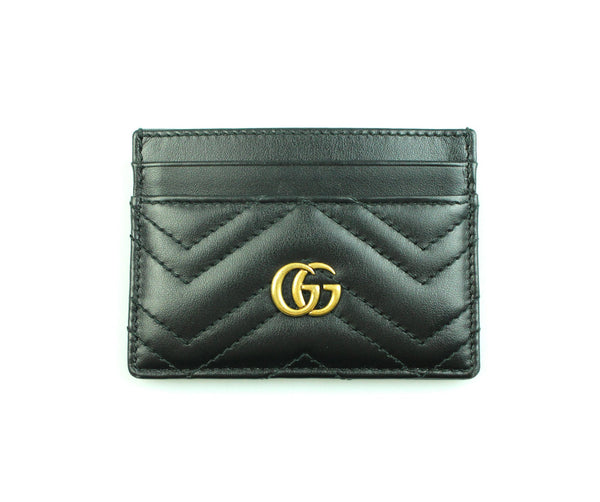 Gucci Black Marmont Leather Card Holder