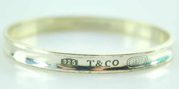 Tiffany & Co 1837 Oval Sterling Silver Bangle