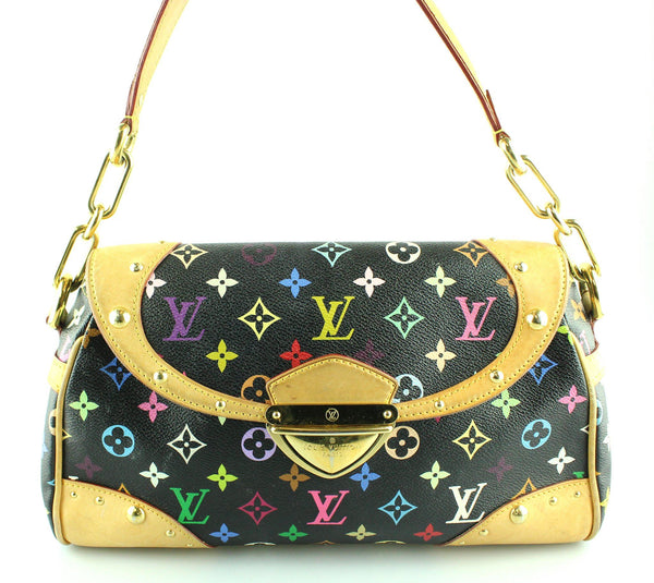 Louis Vuitton Black Multi Colour Beverly SR2038