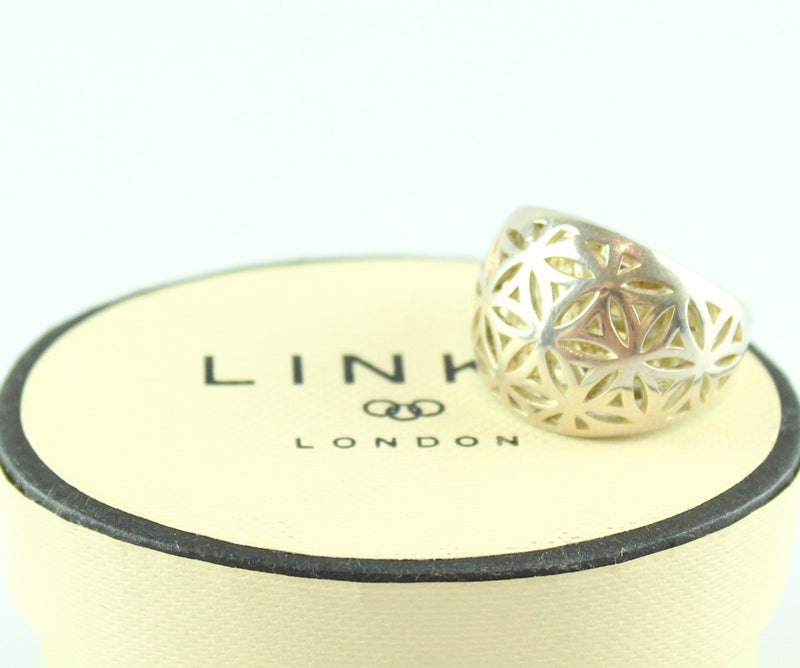 Links Of London 925 Sterling Silver Ornate Ring M