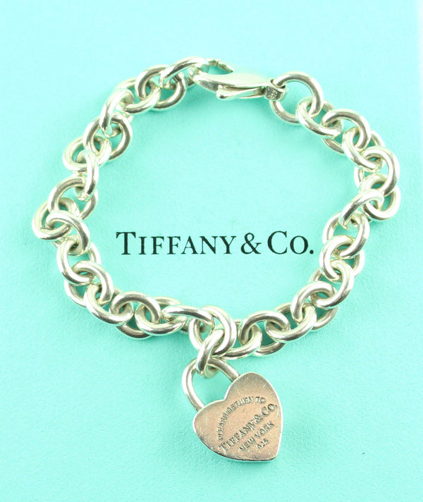 Tiffany & Co. RTT Sterling Silver Detachable Heart Bracelet