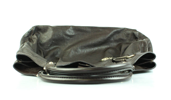 Gucci Dark Brown Leather Large Sukey Hobo