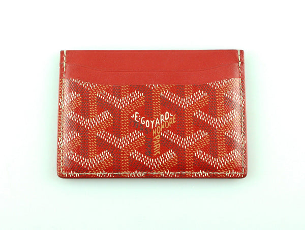 Goyard Goyardine Red Card Case
