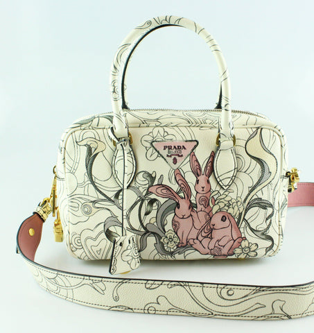 Prada James Jean By Prada Resort 18 Bunny Collection Small Duffle Bag