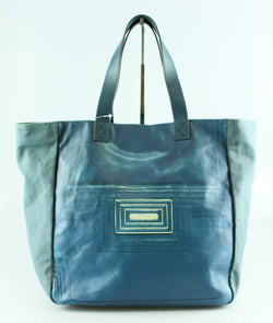 Anya Hindmarch Blue Canvas Tote