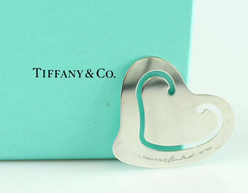Tiffany & Co Elsa Peretti Sterling Silver Heart Book Mark 925