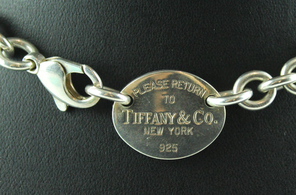 Tiffany & Co. Sterling Silver 925 Oval Plate Choker