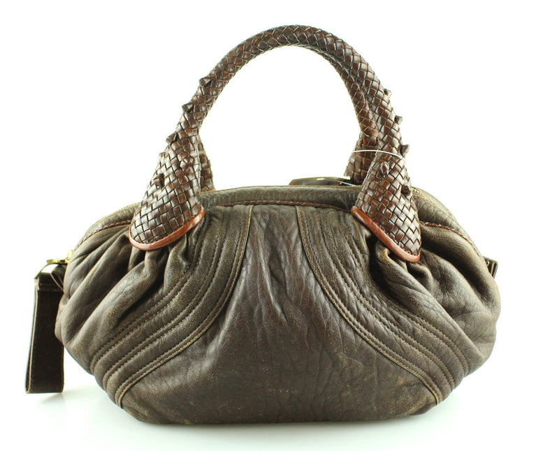 Fendi Nappa Leather Brown Small Spy Bag