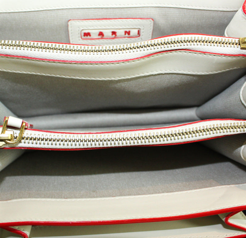 "Marni ""Trunk"" White Leather Crossbody (RRP €1550)"