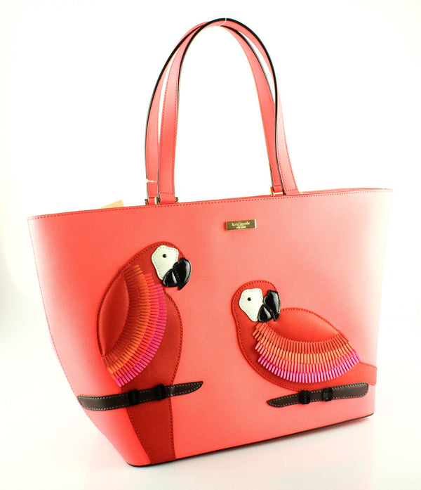 Kate Spade Talk The Talk Pink Parrot Tote