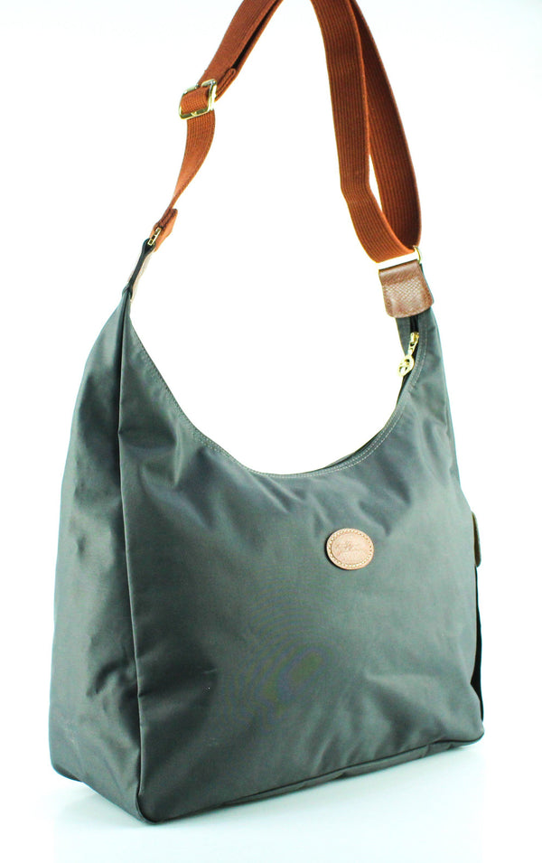 Longchamp Gunmetal Grey Large Cross Body
