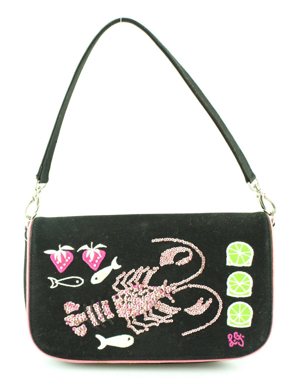 Lulu Guinness Lobster Cloth Small Shoulder Bag