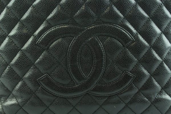 Chanel Caviar Leather Black Grand Shopping Tote GST GH 2009/10