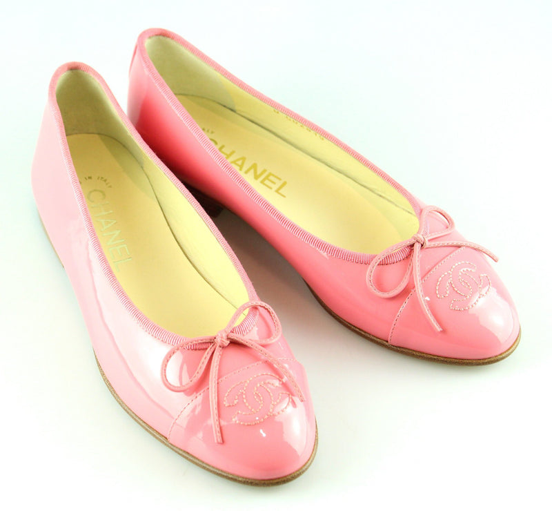 Chanel Ballerina Pumps Pink Patent EUR 36 UK 3 (RRP €660)