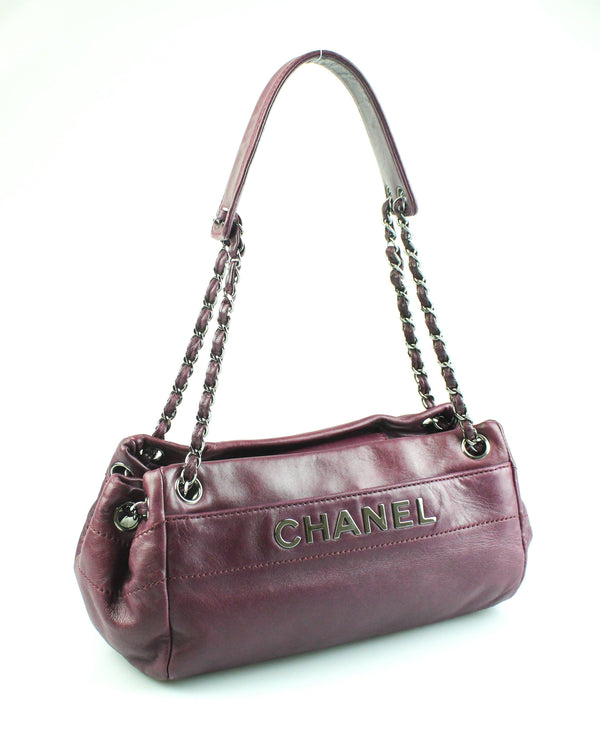 Chanel Purple Lambskin Leather Lax Accordion Shoulder Bag SH 2005