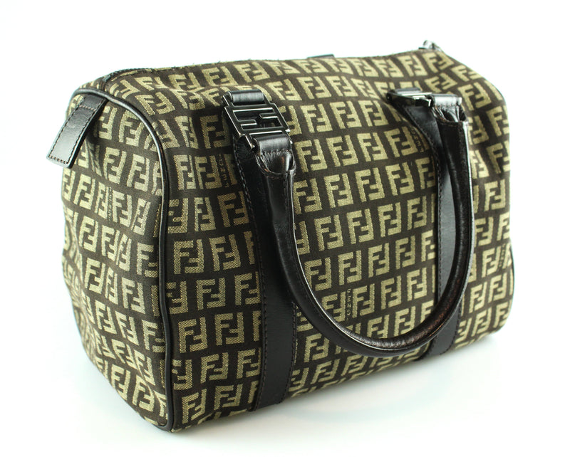Fendi Monogram Small Boston Bag