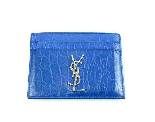 Saint Laurent Blue Leather Card Case SH