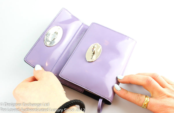 Mulberry Notebook Lavender Drummed Leather SH