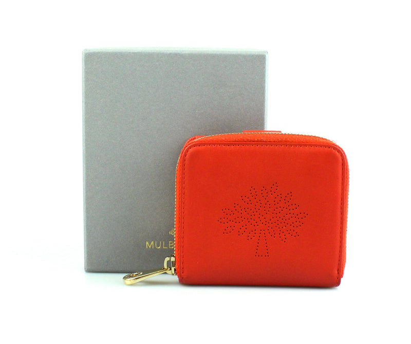 Mulberry Blossom Fiery Spritz Zip Around Compact Purse