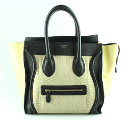 Celine Tri Colour Canvas Mini Luggage Tote