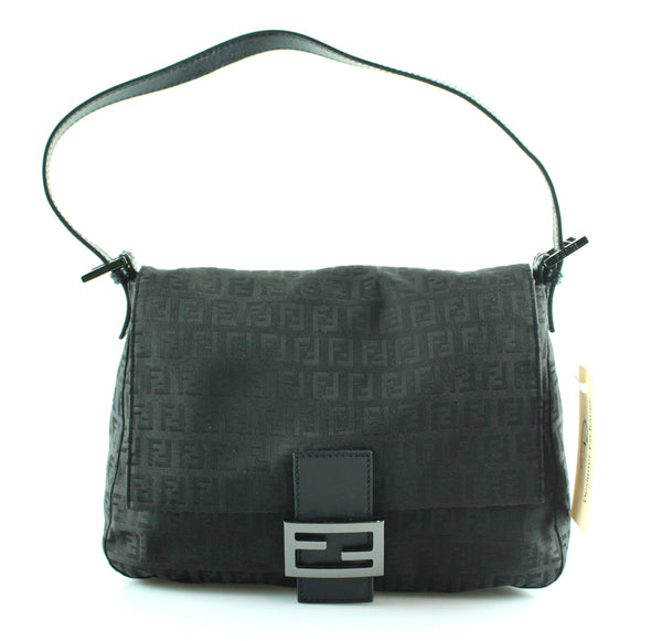 Fendi Black Mono Mama Flap Bag GMH