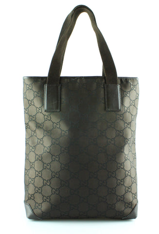Gucci Brown Monogram Canvas/Leather North South Tote