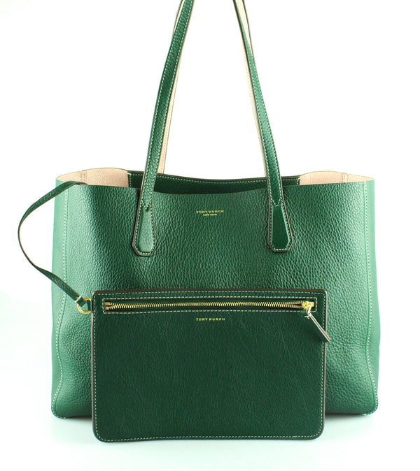 Tory Burch Reversible Green/Pink Leather Phoebe Shopper (RRP €385)