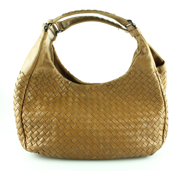 Bottega Veneta Vintage Nappa Leather Intrecciato Small Shoulder Bag (Missing Centre Strap)