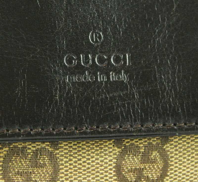 Gucci Monogram/Leather Bum Bag (2)
