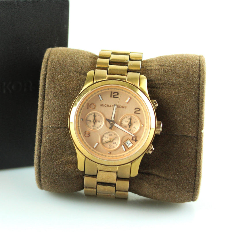 Michael Kors Rose Gold Chronograph MK5128 Runway Watch