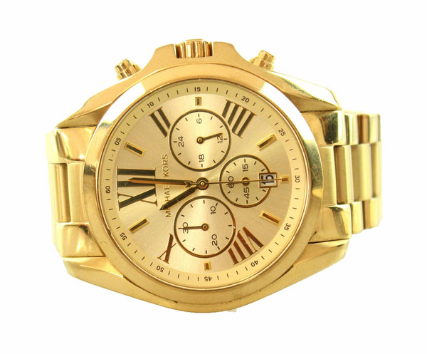 Michael Kors Gold Bradshaw Oversize Chronograph Watch