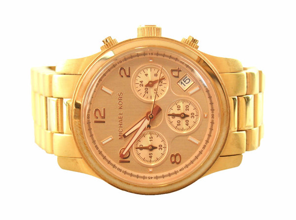 Michael Kors MK5128 Rose Gold Runway Chronograph Watch