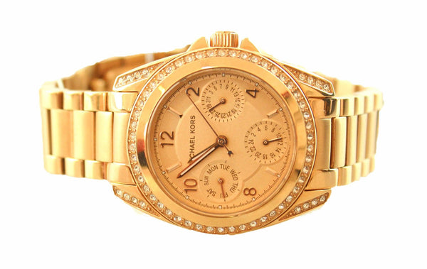 Michael Kors MK5613 Mini Blair Gold Chronograph Watch