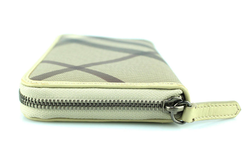 Burberry Smoked Check Zipped Wallet